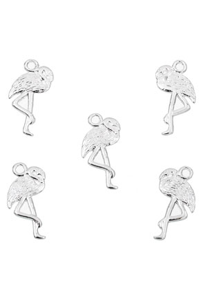 www.snowfall-beads.nl - Metalen hangers flamingo 24x14mm