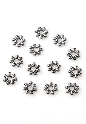 www.snowfall-beads.nl - Metalen kralen rondel plat 4mm (± 145 st.)