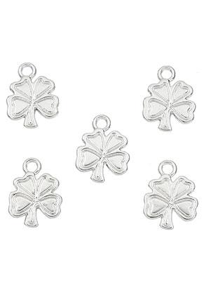 www.snowfall-beads.com - Metal pendants/charms four-leaf clover 17x13mm