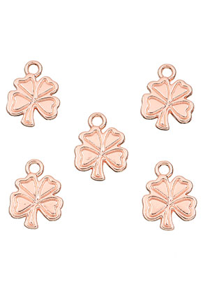 www.snowfall-beads.com - Metal pendants/charms four-leaf clover 17x13mm