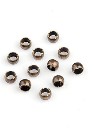 www.snowfall-beads.be - Brass knijpkralen 4x2,5mm (± 60 st.)