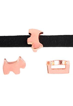 www.snowfall-beads.com - Metal slide-beads dog 10x7,5mm