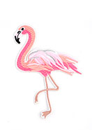 www.snowfall-beads.nl - Stoffen patch flamingo 150x100mm - D24858