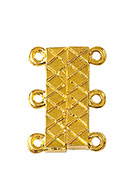 www.snowfall-beads.nl - Metalen magnetische sluiting met 2x3 oogjes 21x16x5mm - D24865