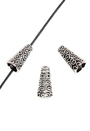 www.snowfall-beads.nl - Metalen kapjes 18x9mm