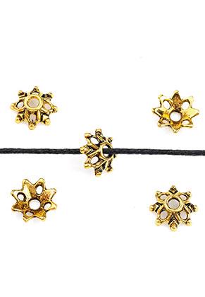 www.snowfall-beads.nl - Metalen kapjes bloem 9x3mm