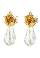 www.snowfall-beads.com - Metal and glass pendants pineapple 31x29mm - D25212