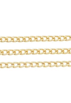 www.snowfall-beads.de - Aluminium Kette mit 6,5x4mm Glieder (100cm)