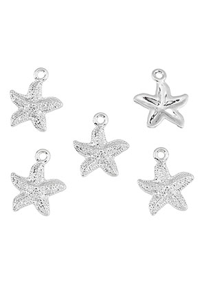 www.snowfall-beads.com - Metal pendants/charms starfish 18x15mm