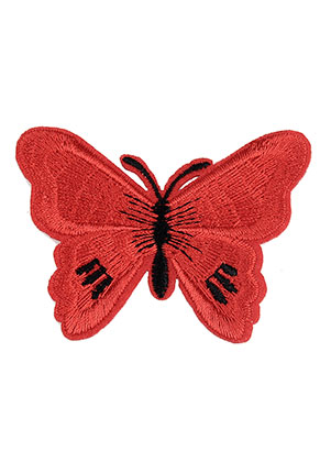 www.snowfall-beads.com - Textile patch butterfly 68x53mm