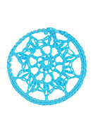 www.snowfall-beads.com - Textile pendant/connector dreamcatcher 46mm - D25383