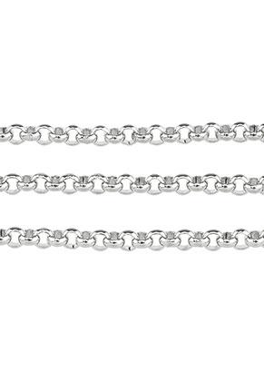 www.snowfall-beads.de - Edelstahl Jasseronkette mit 3mm Glieder