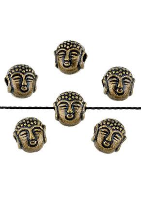 www.snowfall-beads.de - Metallperlen Buddha 7,5x7mm