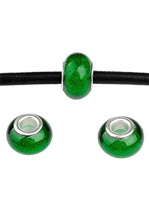 www.snowfall-beads.nl - Groot-gat-style kunststof kralen rondel 13,5x9mm