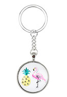 www.snowfall-beads.com - Key fob with pineapple print 94x33,5mm - D25571