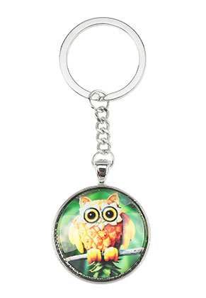 www.snowfall-beads.com - Key fob with pineapple print 94x33,5mm