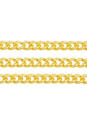 www.snowfall-beads.de - Metall Kette mit 6x4mm Glieder (100cm)
