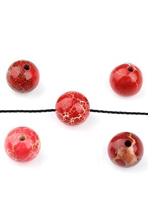 www.snowfall-beads.de - Naturstein Perlen Regalite rund 8mm