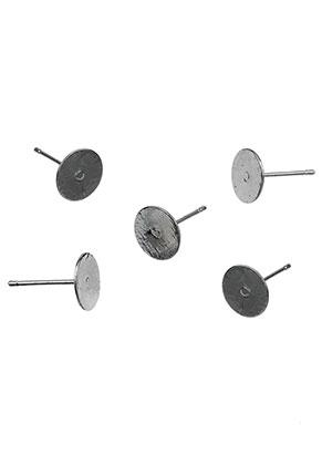 www.snowfall-beads.es - Pendientes de brass 12x8mm para piedras adhesivo > 8mm (excl. tapas)