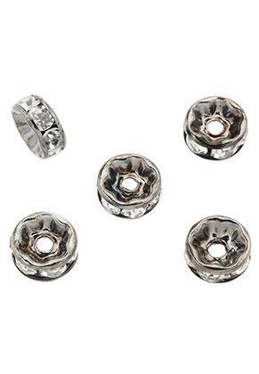 www.snowfall-beads.es - Abalorios separador de brass con strass 8x3,5mm
