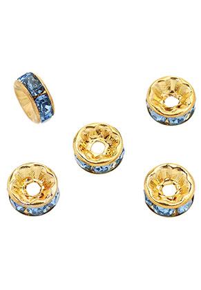 www.snowfall-perles.be - Perles rondelle en brass avec strass 8x3,5mm