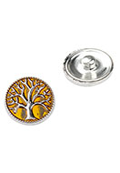 www.snowfall-beads.com - Metal press stud DoubleBeads EasyButton size L with tree - D25959