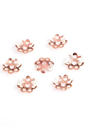 www.snowfall-beads.de - Metall Käppchen Filigran Blume 7,5x1,2mm (± 225 St.)