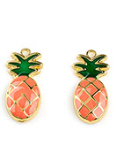 www.snowfall-beads.com - Metal pendants pineapple 23,5x11,5mm - D26230