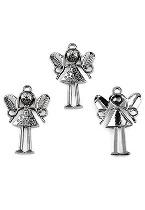 www.snowfall-beads.fr - Pendentifs en métal ange 36x24mm
