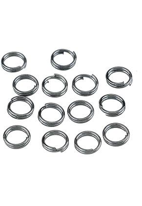 www.snowfall-beads.com - Metal double jump ring 5mm (± 70 pcs.)