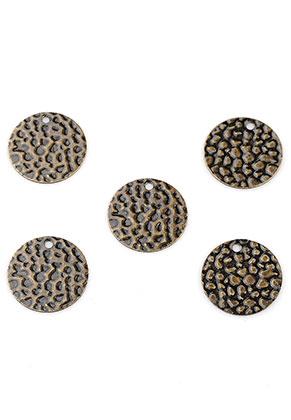 www.snowfall-beads.fr - Pendentifs/breloques en brass circulaires 13mm