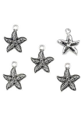 www.snowfall-beads.com - Metal pendants/charms starfish 18x15mm