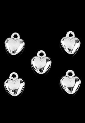 www.snowfall-beads.fr - Pendentifs/breloques en métal coeur 12x9,5mm