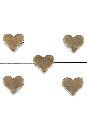 www.snowfall-beads.com - Brass beads heart 7x6mm