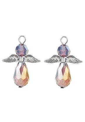 www.snowfall-beads.com - Metal and glass pendants angel 32x23,5mm