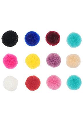www.snowfall-beads.fr - Mélange de pompons en textile 15mm