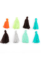 www.snowfall-beads.com - Mix textile tassels 28x5mm - D26456