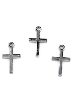 www.snowfall-beads.nl - Metalen hangers/bedels kruis 18,5x10mm