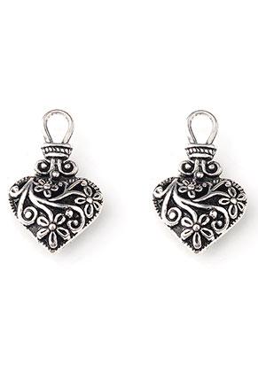 www.snowfall-beads.fr - Pendentifs en métal coeur 30,5x19mm
