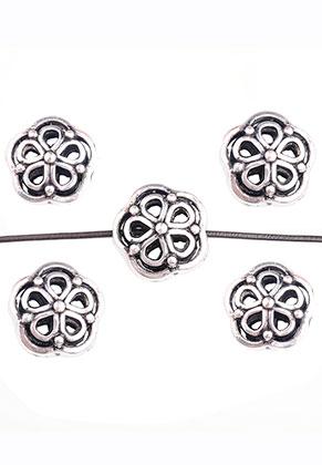 www.snowfall-beads.de - Metall Perlen Blume 14,5x14mm