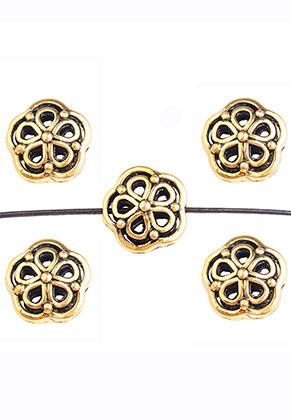 www.snowfall-beads.nl - Metalen kralen bloem 14,5x14mm