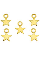 www.snowfall-beads.com - Metal pendants/charms star 11x8mm - D26721