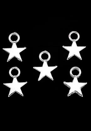 www.snowfall-beads.nl - Metalen hangers/bedels ster 11x8mm