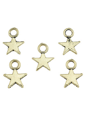 www.snowfall-beads.com - Metal pendants/charms star 11x8mm