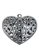 www.snowfall-beads.com - Metal pendants filigree heart 56x53mm - D26729