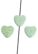 www.snowfall-beads.com - Natural stone perfume beads lava rock heart 20mm - D26732