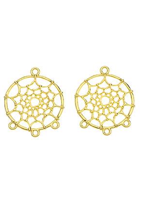 www.snowfall-beads.be - Metalen hangers/tussenzetsels dromenvanger 34x28mm