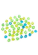 www.snowfall-beads.be - Mix glaskralen kristal konisch 4x3,5mm - D27202