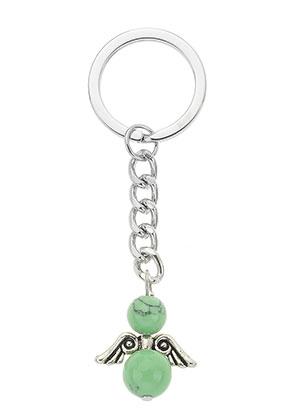 www.snowfall-beads.fr - Porte-clés ange en métal 82x25mm