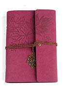 www.snowfall-beads.be - Notitieboekje versierd met bladeren - D27557